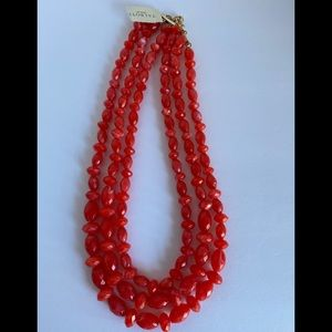 BEAUTIFUL TALBOTS CORAL NECKLACE.